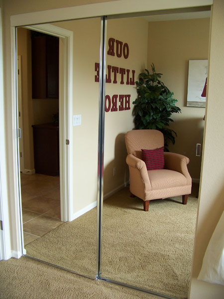 Frameless Door Mirror Unique Frameless Mirrored Closet Doors